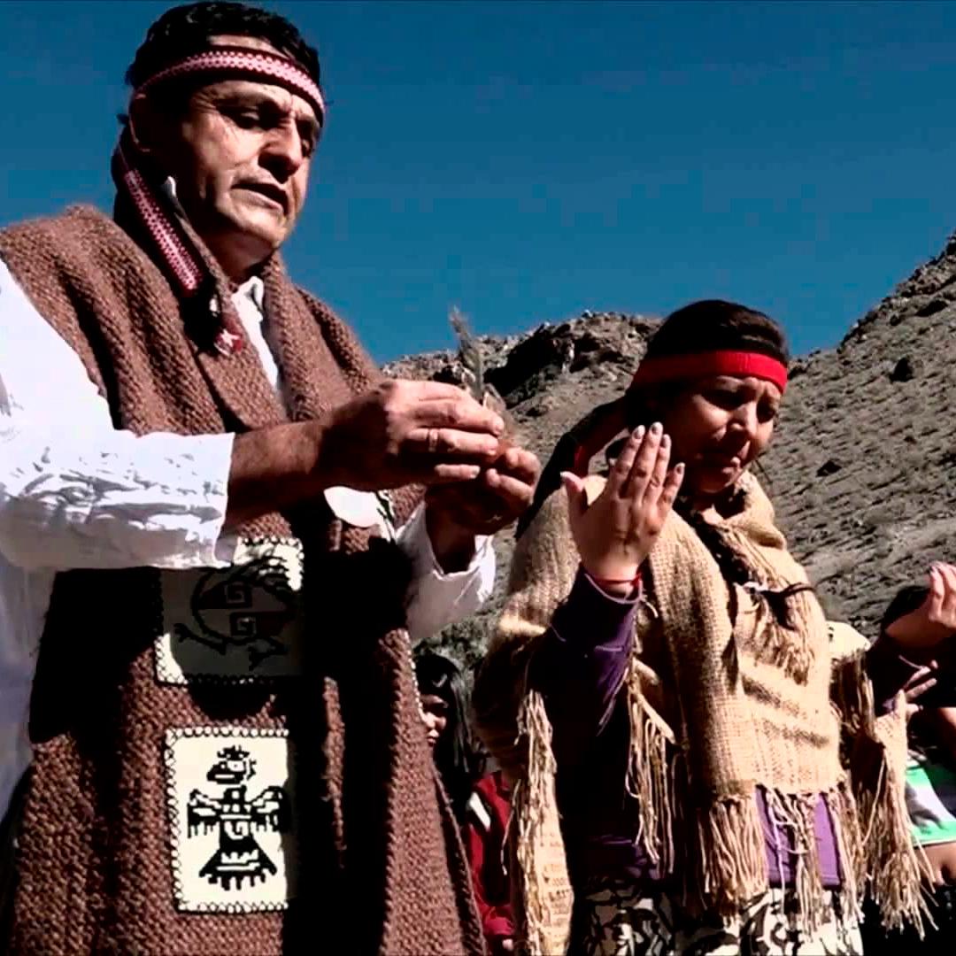 Diaguitas realizando ceremonia típica