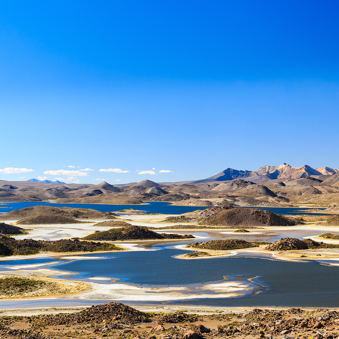 fotografía panorámica de laguna cotacotani invierno seguro en chile