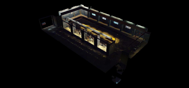 vista en 3d sala de mavi
