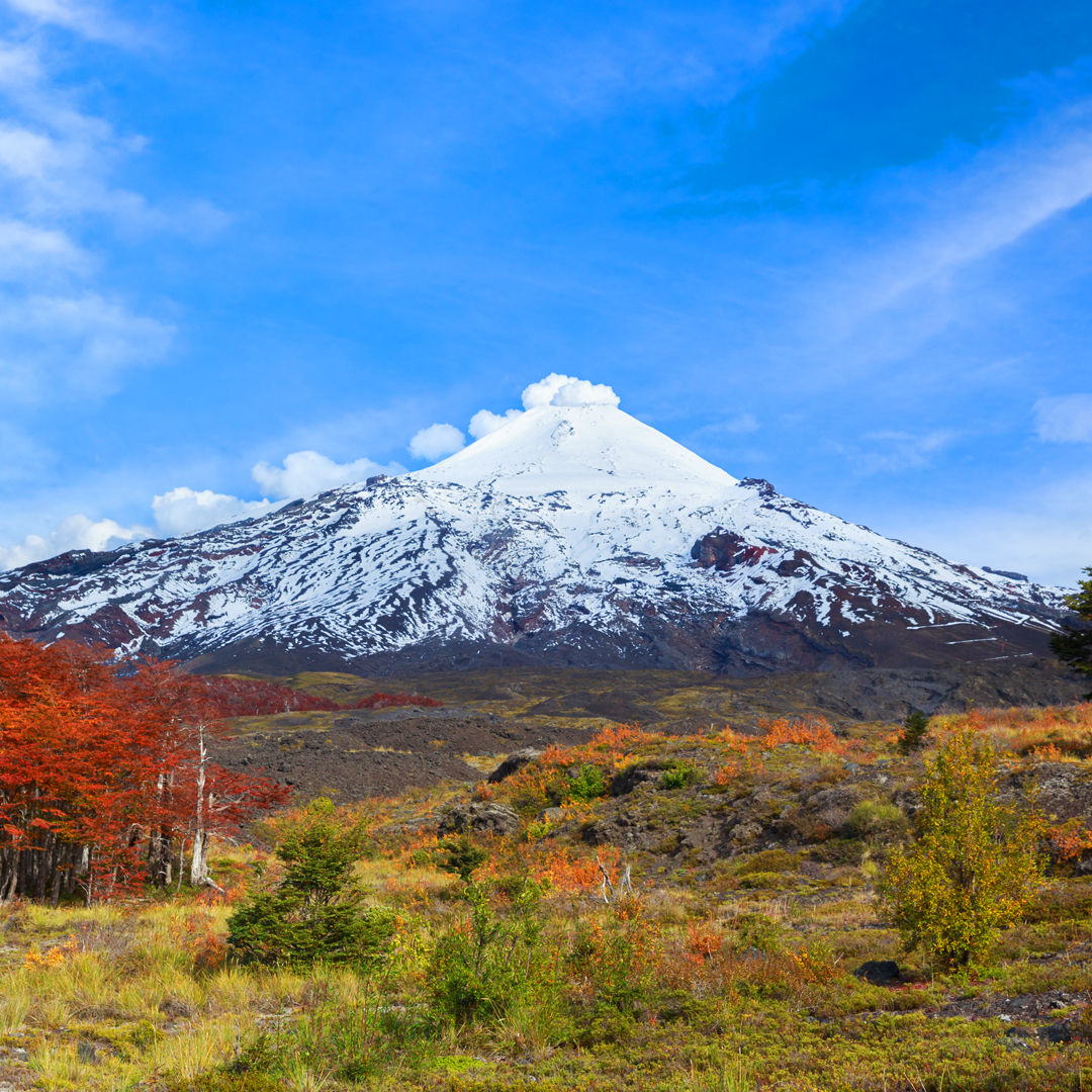 fotografía parque junto a volcán parques nacionales