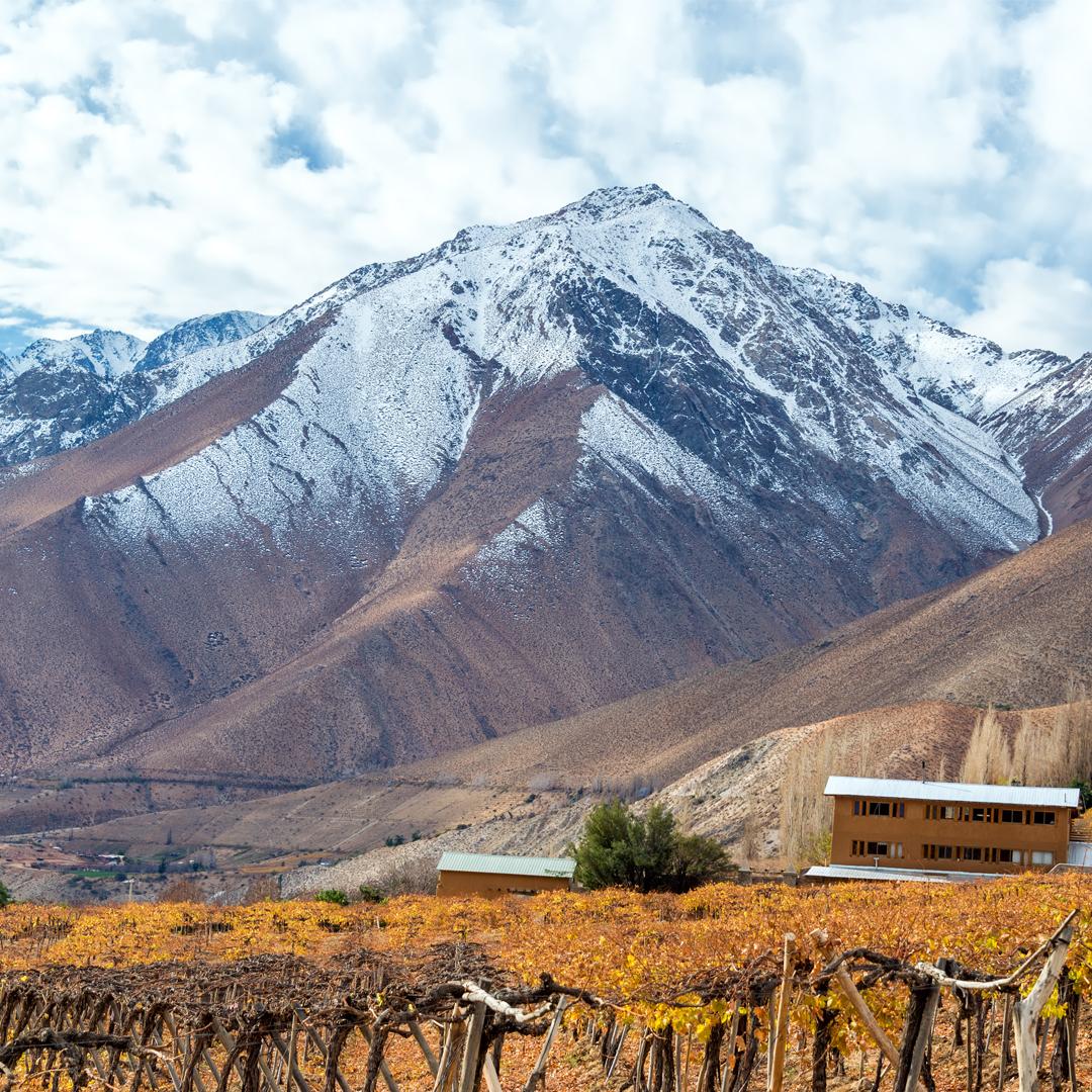 vista panorámica del valle nevado