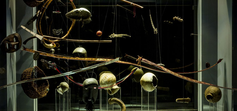 fotografía de las estructuras de la exposición