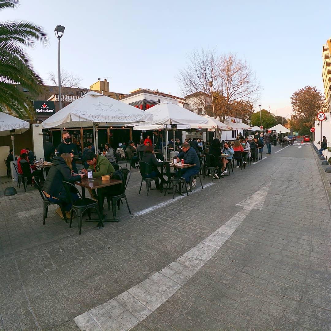 fotografía terrazas en plaza ñuñoa